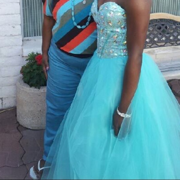 Deb Dresses & Skirts - Teal ball gown